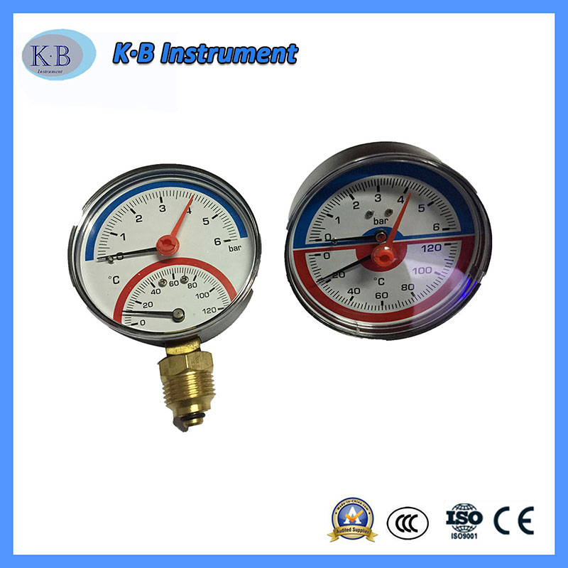 Thermo-Manometer, Mechanical Pressure Gauge and Temperature Gauge