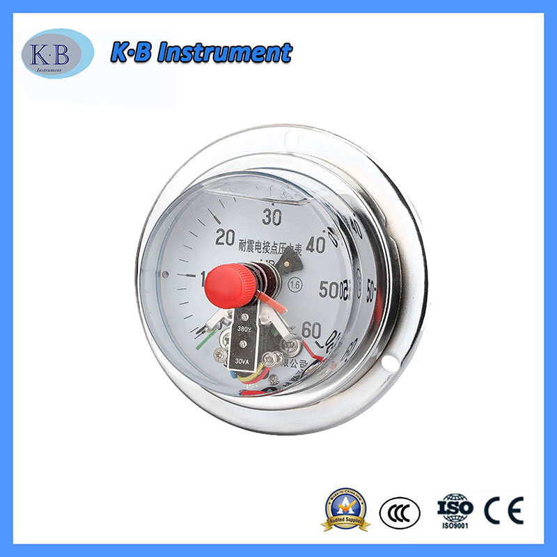 4 Inch 100mm High Hydraulic Electric Electrical Contact Air Pressure Gauge Manometer