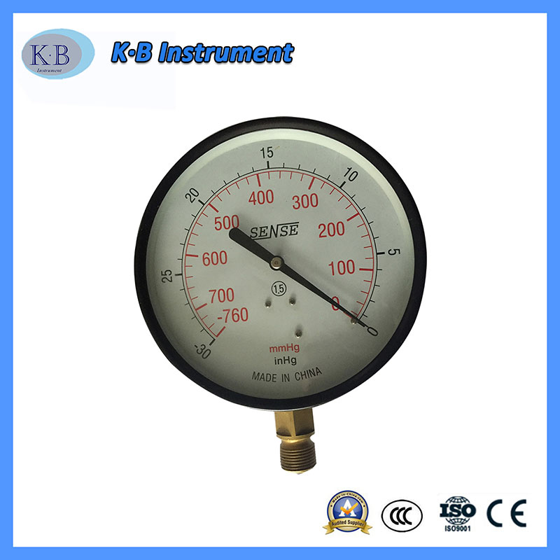 Black Case Brass Movement and Inner Hydraulic Gauge Dry Type Commercial Pressure Gauge for Pump Equipment Parts